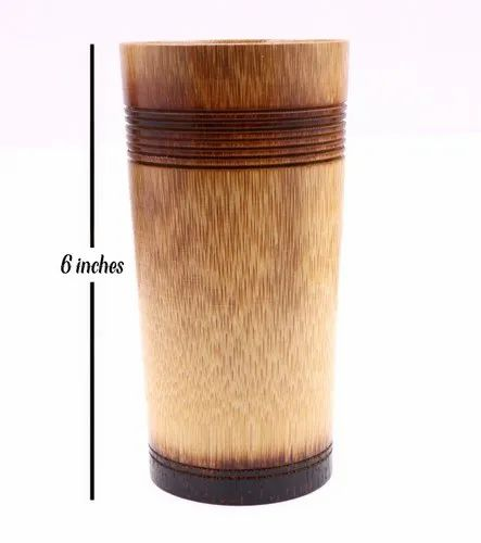 Plain Varnish Bamboo Glass, Size/Dimension: 6 Inches Height