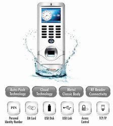 Realtime T62 Waterproof Outdoor Biometric Attendance Cum Access Control System