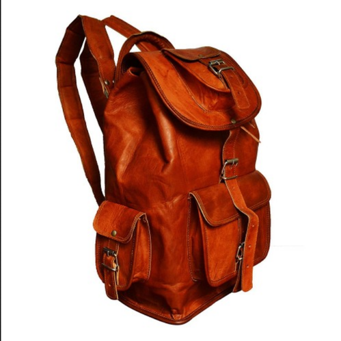 f340345eaa Brown Pranjals House Real Genuine Leather 16 Inch Backpack Bag