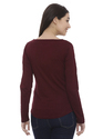 Maroon Ladies Cotton T Shirt