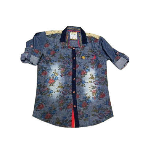 38abc22b Cotton Kids Printed Shirt, Rs 225 /piece, Khurana Garments   ID ...