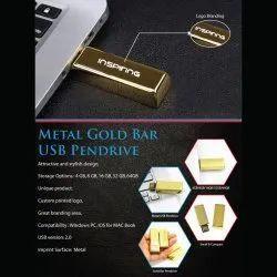 Gold Bar Metal USB Pendrive