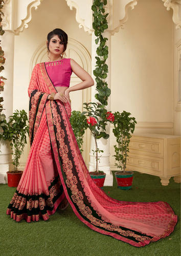 dc51b6ea245496 Light Pink Crepe Printed Casual Saree, Rs 1080 /inr, Shree Exports ...