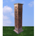 Carved Cast Iron Bollard Light DBL-101