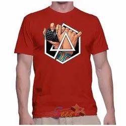 Men Round Neck Cotton T Shirt