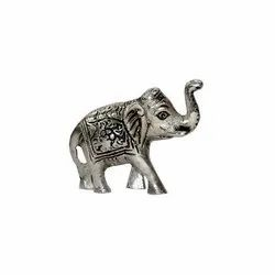 Silver Plated Brass Elephant