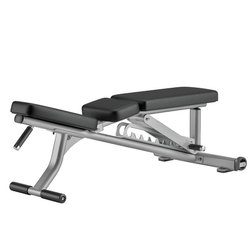 Life Fitness Optima Series Adjustable Bench for Gym, Weight: 72 Lbs (33 Kg)