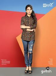 12 Angel Girlish Series 1001-1012 Stylish Party Wear Tussar Silk Top