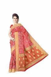 All Over Maroon Color  Banarasi Georgette Saree