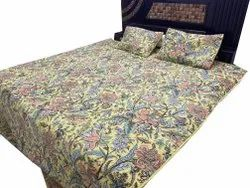 Beautiful Floral Design Quilted Bed Decor Cover With Pillowcases