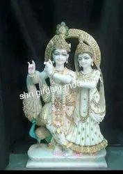 Marble Idols Krishna Radha Statue