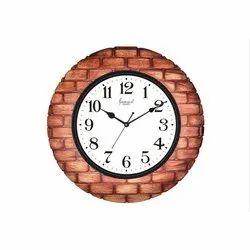 Analog Fiber Wall Clock, Size: 6-10 Inch