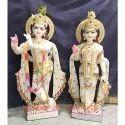 Handicrafts Gateway Marble Radha Krishna Statue, Size: 12