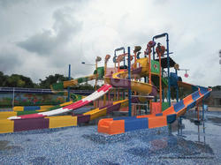 4 Platform Multi Activity Fun Water Slides