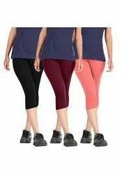 30 Colors Plain Ladies Short Capri, Size: XL,XXL