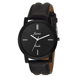Jainx Slim Black Analog Watch for Men & Boys JM234