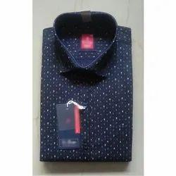 La-Omega Long Sleeve Mens Printed Shirt, Size: 36-44
