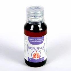 Levosalbutamol 1 Mg  Ambroxol 30 Mghcl Gauiphenesin 50 Mg (Nopuff Ls Cough Syrup)