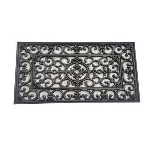 Black Rubber Cast Iron Mat
