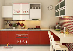 Warli Painting Designer Modular Kitchens