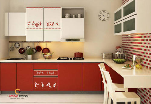 Warli Painting Designer Modular Kitchens