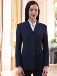 Black Full Sleeve Ladies Suit Jacket