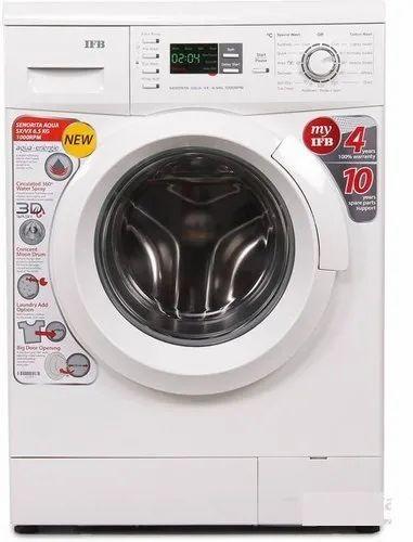 IFB 6.5 kg Fully Automatic Front Load Washing Machine, Senorita Aqua VX, White