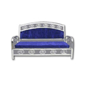 Stainless Steel Blue Sofa