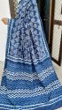 Indigo Print Cotton Saree