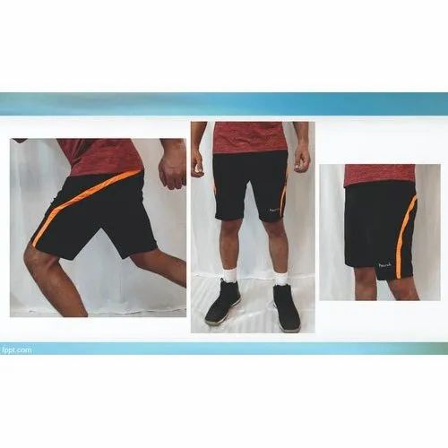 Polyester Knee Length Mens Sports Shorts, Size: S-XXL
