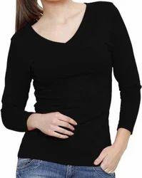 Ladies V Neck T Shirt, Size: S, M & L