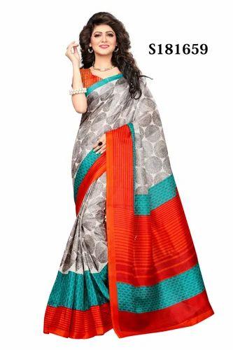 01baf797de Mysore Silk Multicolour Fancy Sarees, Size: 6.3 M, Rs 225 /piece ...