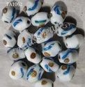 Vintage Murano Or Venetian Frosted Glass Beads