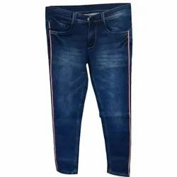 Mens Blue Faded Jeans
