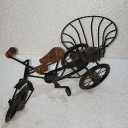 Wooden Rikshaw Showpiece