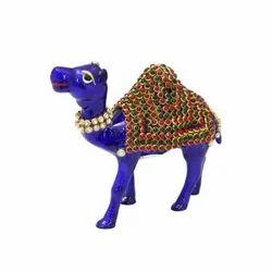 Metal Blue Camel Statue