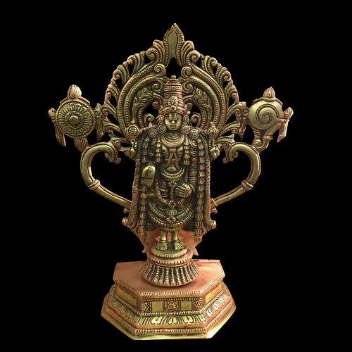 Balaji with Shanku Chakram Statue