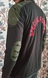 Special Forces Printed Black Milterry T-shirt