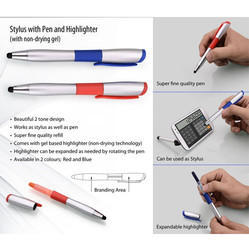 Stylus with Pen and Highlighter