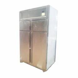 Stainless Steel Two Door Vertical Freezer
