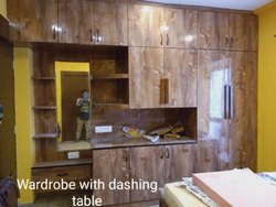 Wooden Wardrobe with Dashing Table, Features: Weather Proof