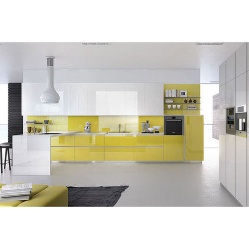 Design Modular Kitchen At Rs 200000 Set: Residential Acrylic Modular Kitchen, Warranty: 5-10 Years