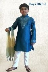 Silk Kids Boys Ethnic Wear Kurta, Size: 2-10 years