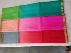 Casual Wear Plain Kota Silk Saree, With blouse piece, 6.25m