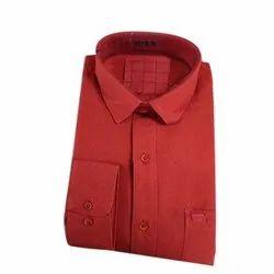 Cotton Collar Neck Mens Dot Printed Shirt