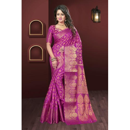 f082468444 Bridal Wear Bridal Rani Colored Banarasi Silk Saree, Rs 1595 /piece ...