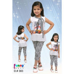Kids Designer Capri With Top