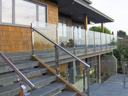 Bar And Cable Stainless Steel Glass Railing