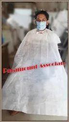 Microfiber White Disposable Salon Capes (Apron) / Non Woven, Size: Large