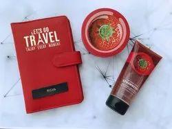 Red Travel Organizer Wallet